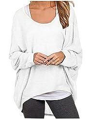 Hqclothingbox - Camiseta - Casual - para mujer