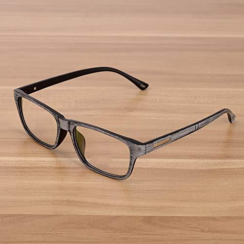 YMTP Männer Und Frauen Unisex Holz Muster Retro Optical Spectacle Brillen Brillengestell Vintage Brillen