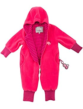 Sigikid Baby-Mädchen Strampler Fleece Overall, Blau (Mood Indigo 275), 80