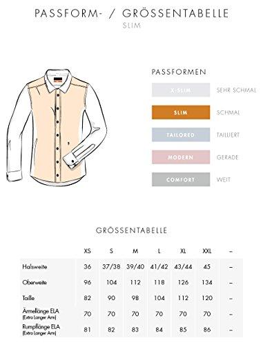 Seidensticker Herren Businesshemd Slim Extra Langer Arm mit Kent-Kragen Bügelfrei Weiß