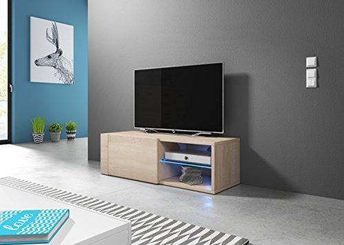 Parete attrezzata in mdf con illuminazione integrata con porta tv