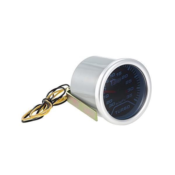 KKmoon Manómetro Digital Turbo Boost Gauge LED Digital Medidor para Auto Coche 52mm 2in
