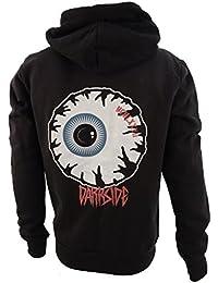 Darkside, Eyeball – bestickte Fleece Kapuzenjacke