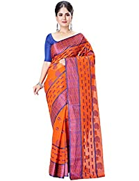 Slice Of Bengal Light Weight Broad Border Handloom Cotton Taant Tangail Saree 101001001235