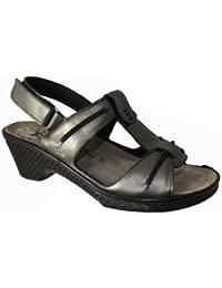 Mobils-Chaussure Sandale-PORFILIA Gris cuir 10103-Femme