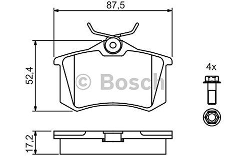 Pastiglie freno posteriori Bosch 0 986 461 769