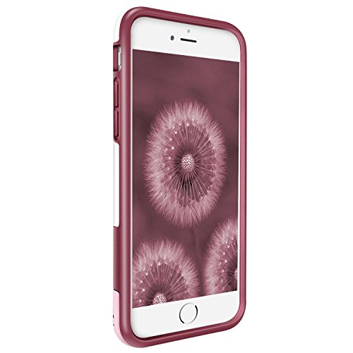 iPhone 8 Plus Hülle, iPhone 7 Plus Hülle, Pasonomi [Outdoor] [stoßdämpfend] Silikon Tasche Schutzhülle Case Cover für Apple iPhone 8 Plus & iPhone 7 Plus 5.5 zoll (Schwarz) Weinrot