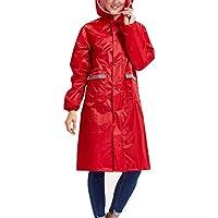 Babysbreath Impermeable Impermeable Mujeres Hombres Pareja Impermeable Trench Coat Rain Capa Rainwear Gear Rain Rain Rojo XL