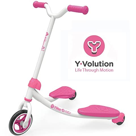 Genuine Children's Yvolution Fliker Scooters - Multiple Options / Colours: Pink/Green/Black/Yellow/Orange! (YFJ2P-PINK)