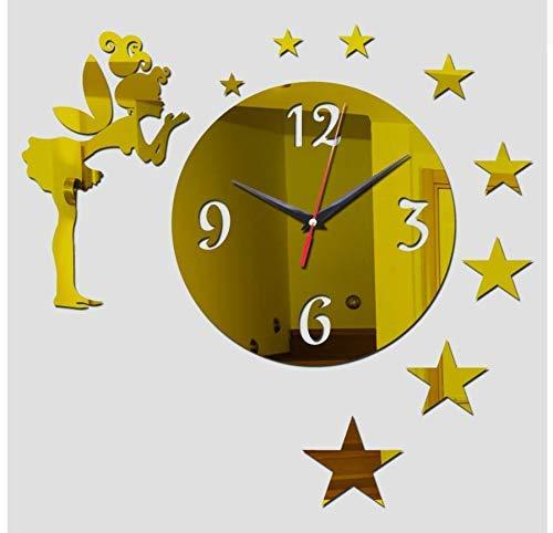 Wandaufkleber Haushaltsdekor Wohnzimmer Europa Möbel Uhren Aufkleber Person und Star Gold 35X45Cm Beste Geschenk, FQM -