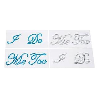 Aiskaer 4 Wedding Rhinestone Shoe Decals Stickers -