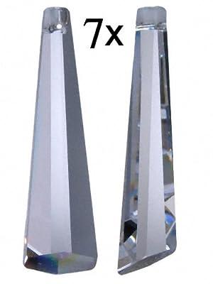 "7x Regenbogenkristall ""Icicle / Eiszapfen"" 63mm Crystal 30%PbO~ Feng Shui Lampen Kronleuchter von AMBROS® - Kristall auf Lampenhans.de"