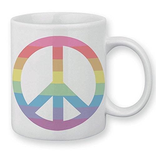Mug Peace and Love Rainbow (Arc en ciel) - Fabriqué en France - Chamalow shop