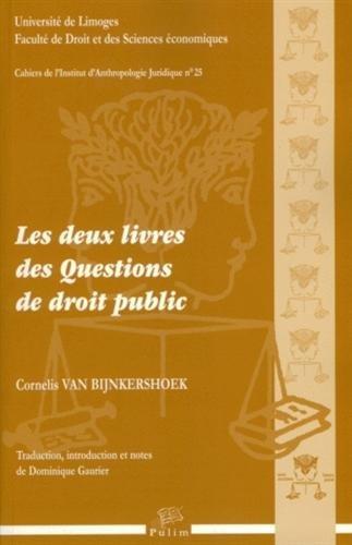Les deux livres des questions de droit public (1Cédérom)