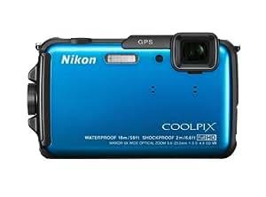 """Nikon Coolpix AW110 Appareil photo numérique compact 16 Mpix Ecran 3"""" Zoom optique 5x Bleu"""
