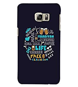 SAMSUNG GALAXY S6 EDGE PLUS TEXT Back Cover by PRINTSWAG