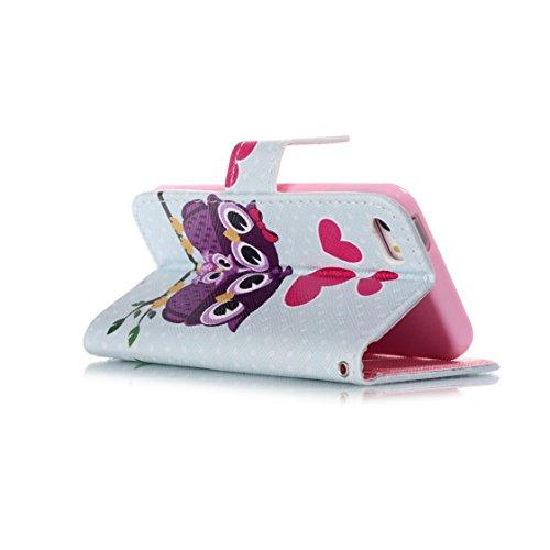 AYASHO® Coque iPhone SE / 5s, PU Cuir Etui Pochette Flip Wallet Housse Motif Style Mode Bookstyle Case Cas Portable Holster Pour Apple iPhone SE (Special Edition) / 5 / 5s , A28 D05