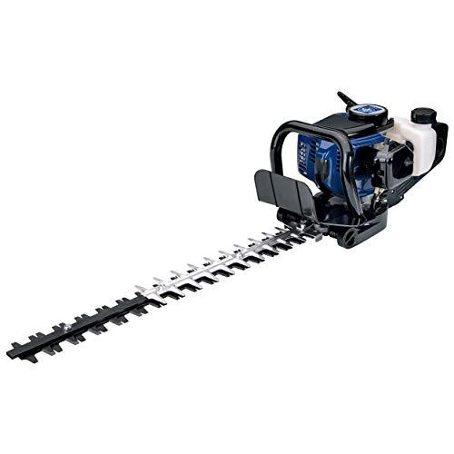 LUX-TOOLS B-HS-25/62 Benzin-Heckenschere mit 61,5 cm Schnittlänge & 28 mm Schnittstärke | Kabellose Heckenschere mit 25,4 cm³ 2-Takt Motor & lasergeschliffenen Schneiden