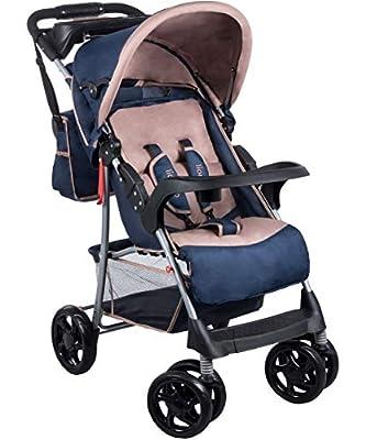 Kinderwagen Buggy LIONELO EMMA NAVY mit Wickeltasche