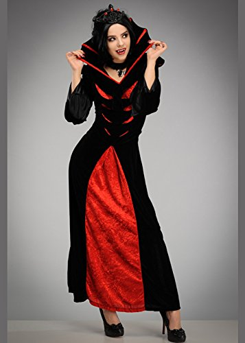 Frauen Halloween Königin der Vampire Kostüm Std. (UK 10-12) (Erstaunlich Halloween Kostüme Uk)