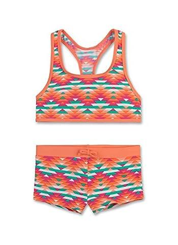 Sanetta Mädchen Bikini 440380, Orange (Creamy Coral 2387), 152