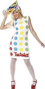 LICNSD TWISTER BOARD GAME FANCY DRESS COSTUME LADY -MEDIUM(Fits UK Dress Sizes 12 / 14)