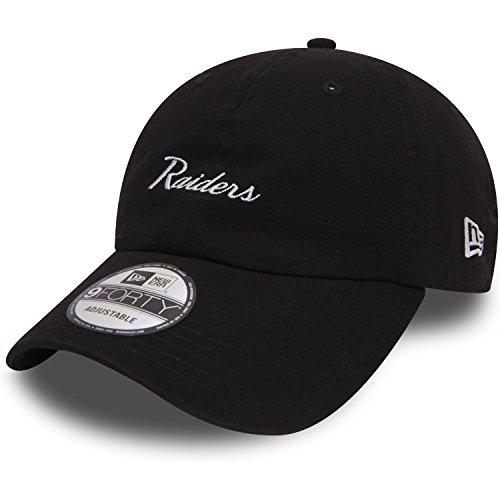 New Era 9Forty NFL Mini Script Cap One Size Oakland Raiders (Usc Baseball-mütze)