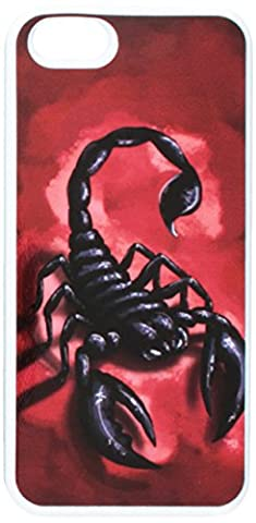 Graphics and More Scorpion - Insect Bug Red - Snap-On Hard Protective Case for Apple iPhone 5/5s - Non-Retail Packaging - White