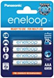 Panasonic BK-4MCCE/4BE Eneloop Micro AAA 750 mAh Rechargeable Battery (Pack of 4)