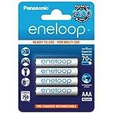 Panasonic Eneloop Blister de 4 plies rechargeables LR03-AAA 750 mAh Blanc