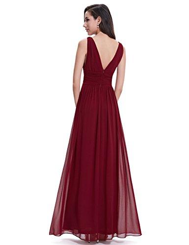 Ever-Pretty Damen Kleid Burgundy