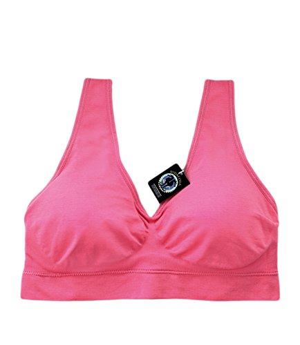 SODACODA Sport Yoga Comfort Bra - Reggiseno senza cuciture -Confortevole e alla moda Pink