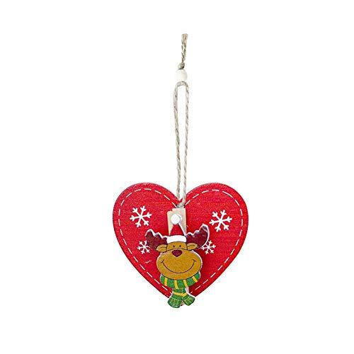 Weihnachtsbaum innovative Anhänger Clip Weihnachten gemalt dekorative Clip Weihnachten Schrank Tür und Fenster Dekoration für Inneneinrichtungen aus Holz Weihnachtsmann Schneemann Elch Decor