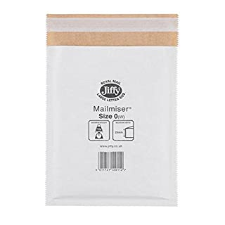 Jiffy Airkraft Envelope Size 0 - White (Pack of 10)