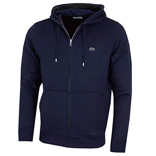 Lacoste Herren Zip-Through Logo Hoodie M Navy-blau