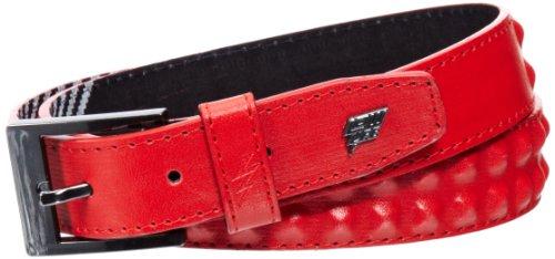 Lowlife of London - Cinturón slim para hombre, talla L, color rojo