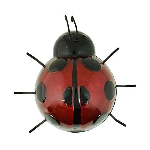 ASAB Metall Insekten Garten-Ornament Statuen im Wand aufhängen ART Hand Saltrock Lackiertes Zaun, Schuppen, Terrasse–Bumble Bee Marienkäfer Bug, marienkäfer, M