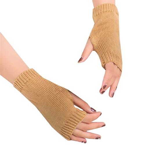 STZHIJIA Winter Die Hälfte Der Finger Handschuhe Handschuhe Stricken Frauen Arm Unisex Warme Hand Stricken Winter Fingerlose Halben Finger Handschuhe B