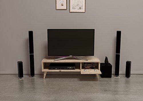 MAYA TV-Lowboard / Natur-Holzfarbe / TV-Board – Fernsehtisch in elegantem Design - 3