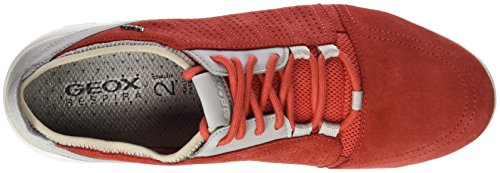 Geox U Xunday 2fit B, Baskets Basses Homme Rouge (Red/Papyrusc7V1S)