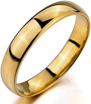 MunkiMix Ancho 4mm Tungsteno Anillo Ring Banda Venda Oro Dorado Comodidad Cómodo Alianzas Boda Hombre