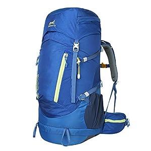 Eshow 60L Mochilas de Montaña con Cubierta Impermeable al Aire Libre Macutos de Acampada Viajes Senderismo Trekking Marcha