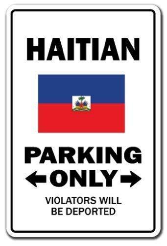 Tarfy Haitian Parking Haiti Caribbean Island Vacation Resort Retro Weinlese-Blechschild-Dekorations-Bar-Kaffee-Café-Nachmittagstee-Grill-Geschäft