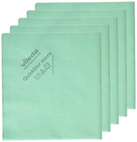 Price comparison product image Vileda 235288 - Quickstar Microfiber Cloth, Green - Set of 5 units