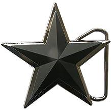 6270847bd43339 Gürtelschnalle Stern Black Star 3D Optik für Wechselgürtel Gürtel Schnalle  Buckle Modell 187 - Schnalle123