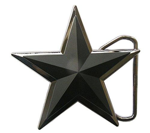 7bed42fa624141 Gürtelschnalle Stern Black Star 3D Optik für Wechselgürtel Gürtel Schnalle  Buckle Modell 187 - Schnalle123