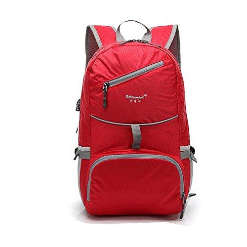 HTRPF Schulter Reise faltbare wasserdichte tragbare leichte Männer und Frauen Sporttasche Red