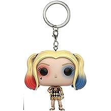 Llavero Harley Quinn con vestido, 4cm. Escuadrón Suicida Pocket Pop