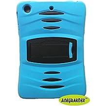 Aceguarder nuevo iPad Mini/mini2iPad 234iPad 5/Air silicona plástico doble capa de protección absorción de golpes Kid-Proof caso construido en soporte diseñado para el Apple iPad Mini/mini2iPad 234iPad 5/aire