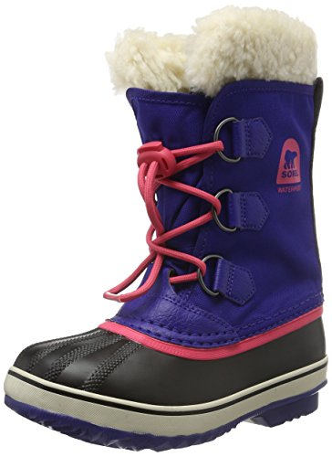 Sorel Yoot Pac Nylon, Stivali da Neve Unisex - Bambini, Blu (Grape Juice, Afterglow 484Grape Juice, Afterglow 484), 32 EU